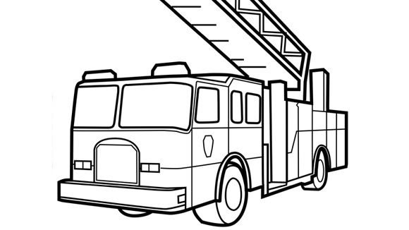 Fire Truck clipart coloring book Pages Clipart Cream Coloring Free