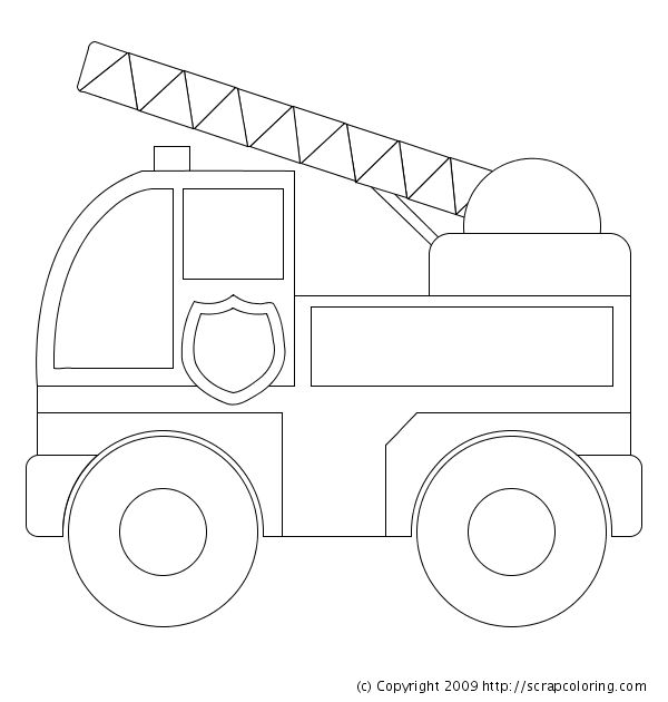 Fire Truck clipart coloring book Truck coloring Pinterest on detail