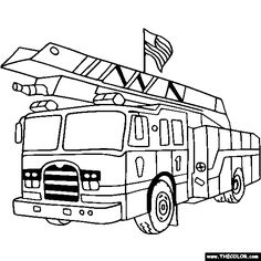 Fire Truck clipart coloring book  a Awesome clipart Coloring