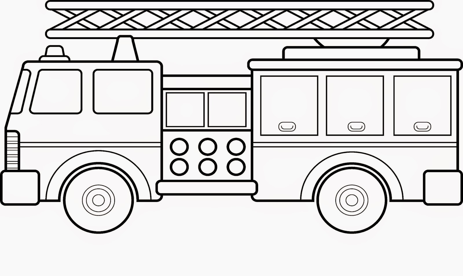 Fire Truck clipart coloring book  coloring Coloring fire coloring
