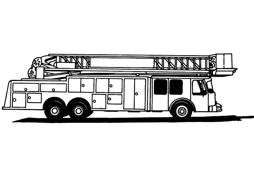 Fire Truck clipart coloring page Coloring Fire Page Truck Kids