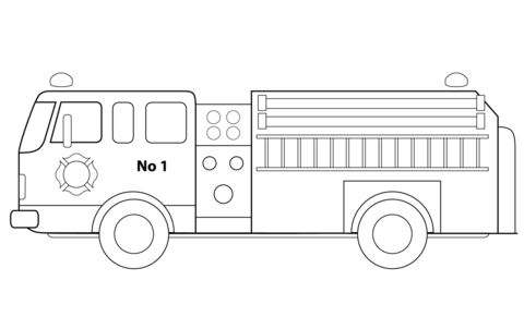 Fire Truck clipart coloring page See Printable Click Free printable