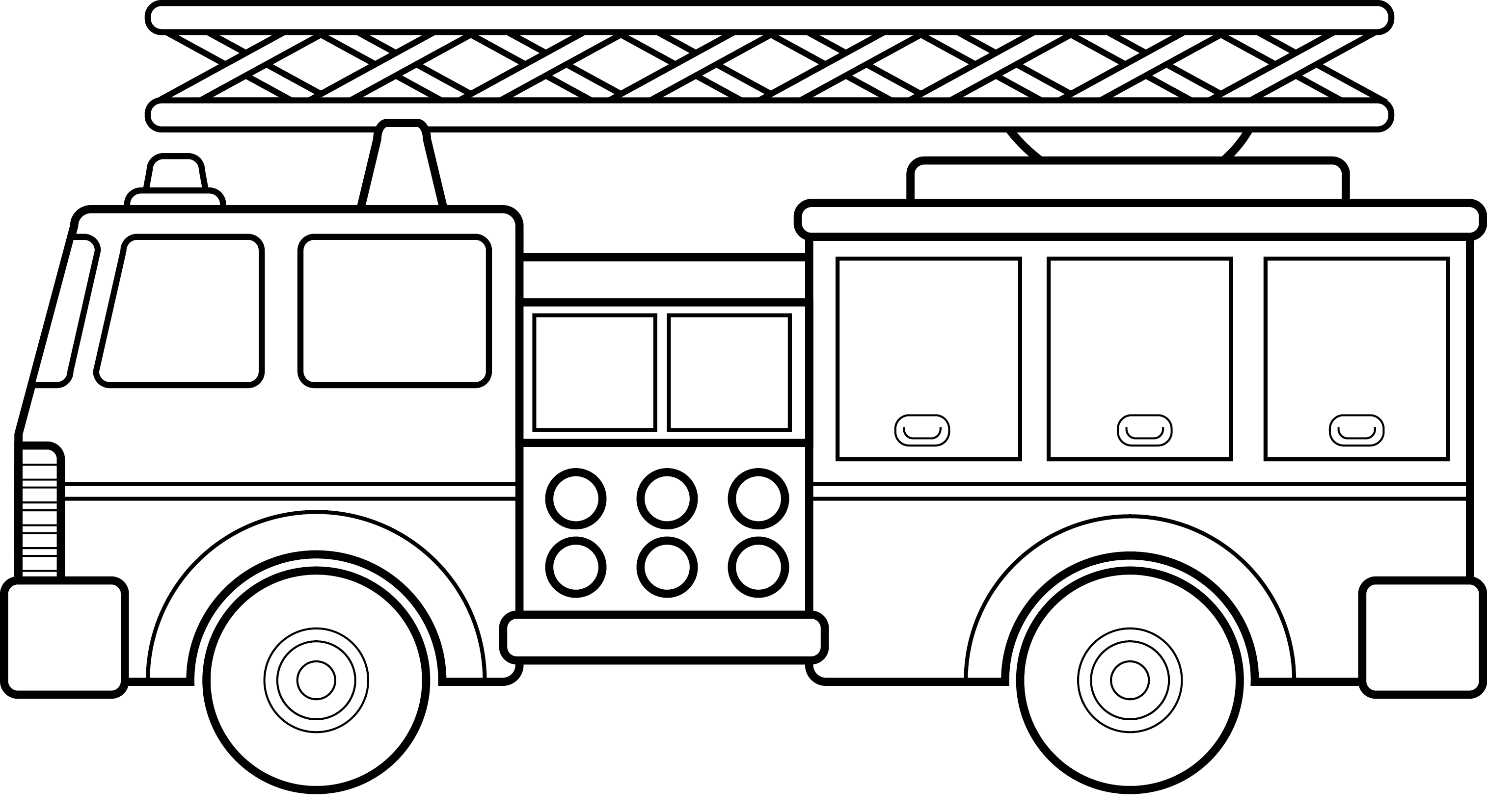 Fire Truck clipart coloring page Truck  Big Fire Coloring