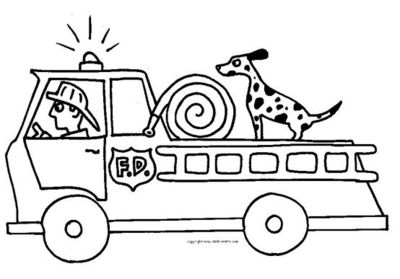 Fire Truck clipart coloring page Coloring Craft fire Color pages