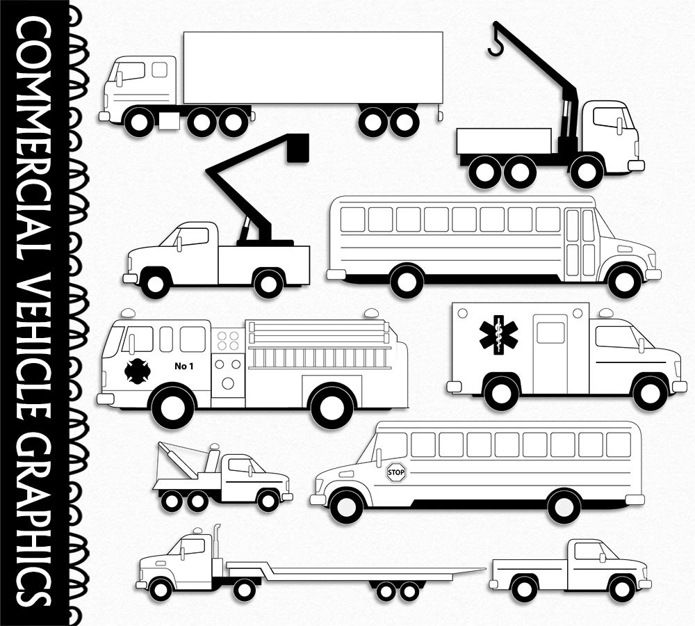 Fire Truck clipart commercial Truck Art Commercial Fire White