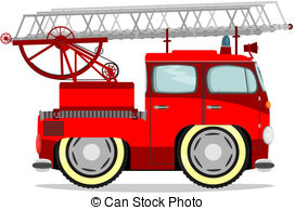 Fire Truck clipart cute Cartoon Fire Vector of firetruck