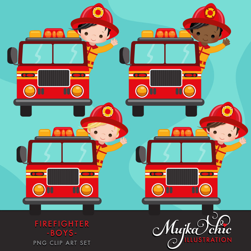 Fire Truck clipart cute Boys fire a Fire Clipart