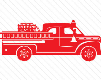 Fire Truck clipart digital Red SVG Fire Etsy Die