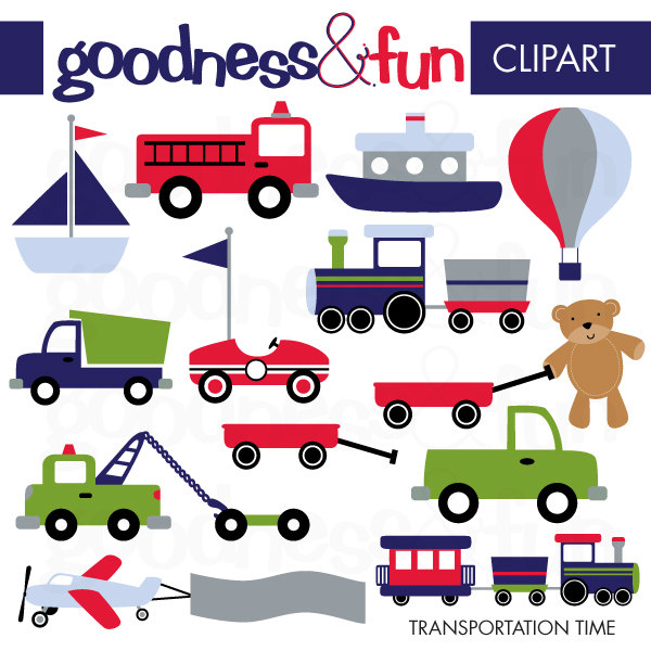 Fire Truck clipart digital Buy 1 2 Transportation Clipart