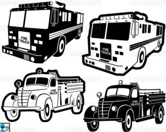 Fire Truck clipart digital Fire Clipart Trucks svg Etsy
