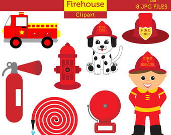 Firefighter clipart red Fire Commercial Commercial Firefighter Dog