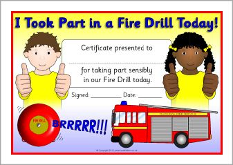 Fire Truck clipart fire drill On drill (SB9797) certificates Fire