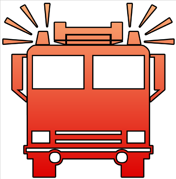 Fire Truck clipart fire drill Truck Fire art fire Outline