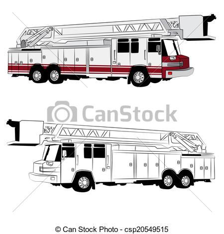 Fire Truck clipart fire equipment Fire Vector Ladder of and