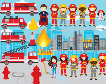 Fire Truck clipart fire equipment Art firefighters fire truck boys