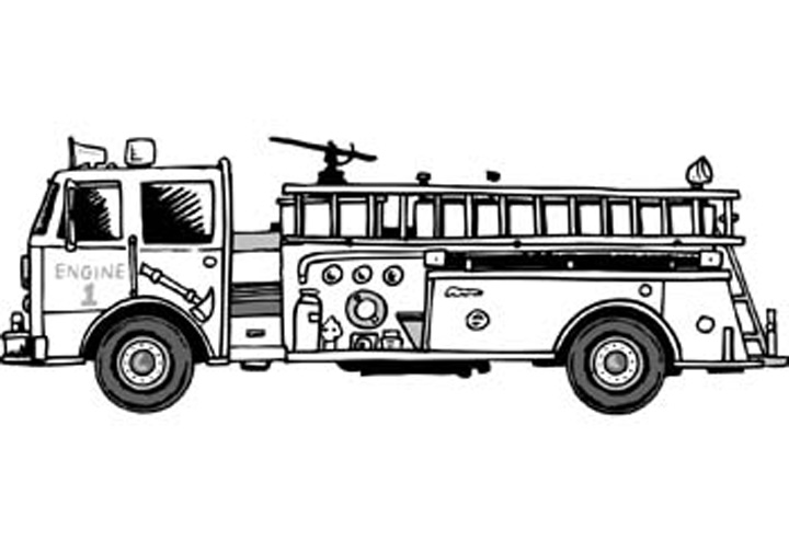 Fire Truck clipart fire prevention Coloring fire the Fire pages