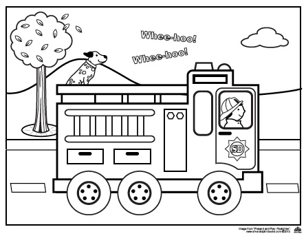 Fire Truck clipart fire prevention Page Truck Coloring Easy Easy