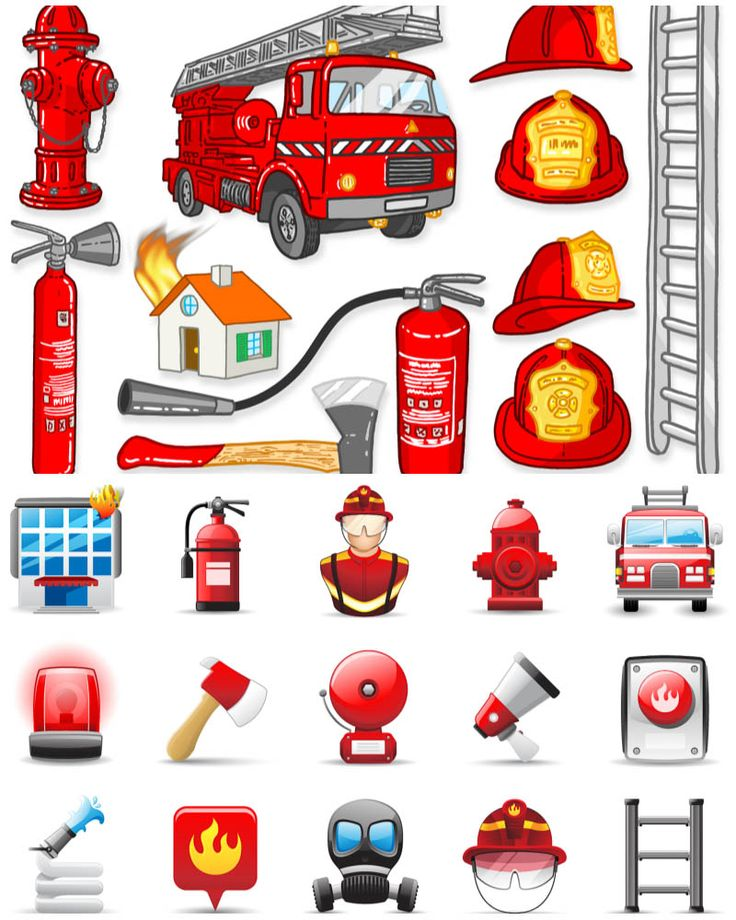 Firefighter clipart fire fighting equipment Truck 121 The cartoon on