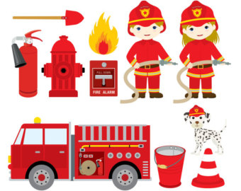 Fire Truck clipart firefighter tool Clipart Fighter Digital of Art