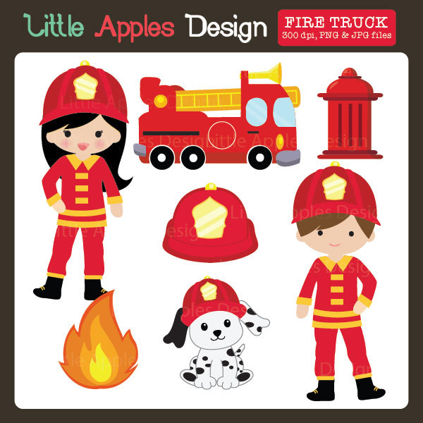 Fire Truck clipart firefighter tool Fireman Truck / ClipArt Art