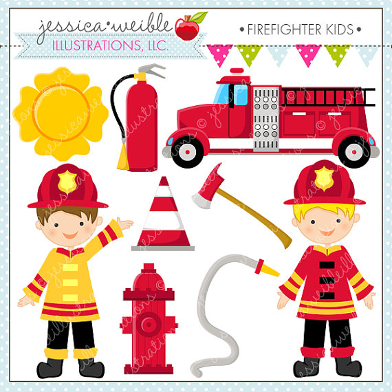 Firefighter clipart red Of Clipart  for Clipart