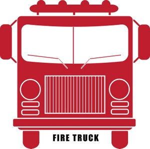 Fire Truck clipart front view Truck fire Fire red image