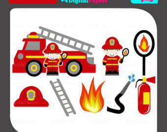 Fire Truck clipart front view For firefighters truck of Firetruck
