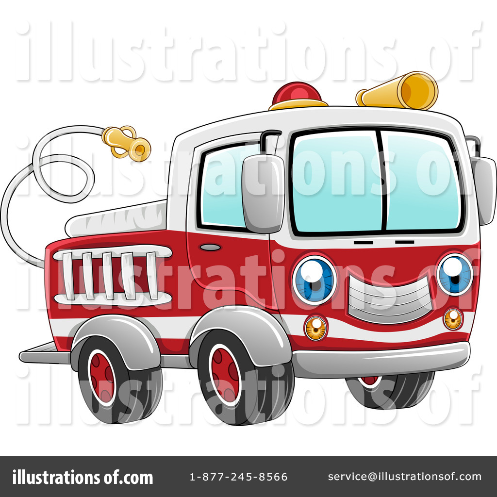 Fire Truck clipart front view By Studio Illustration #1078216 Design