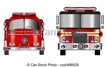 Fire Truck clipart front view Old fire of of fire
