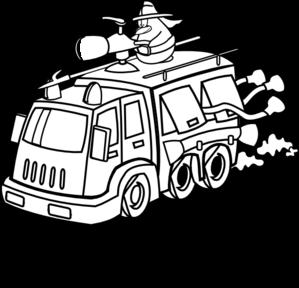 Fire Truck clipart house fire #4