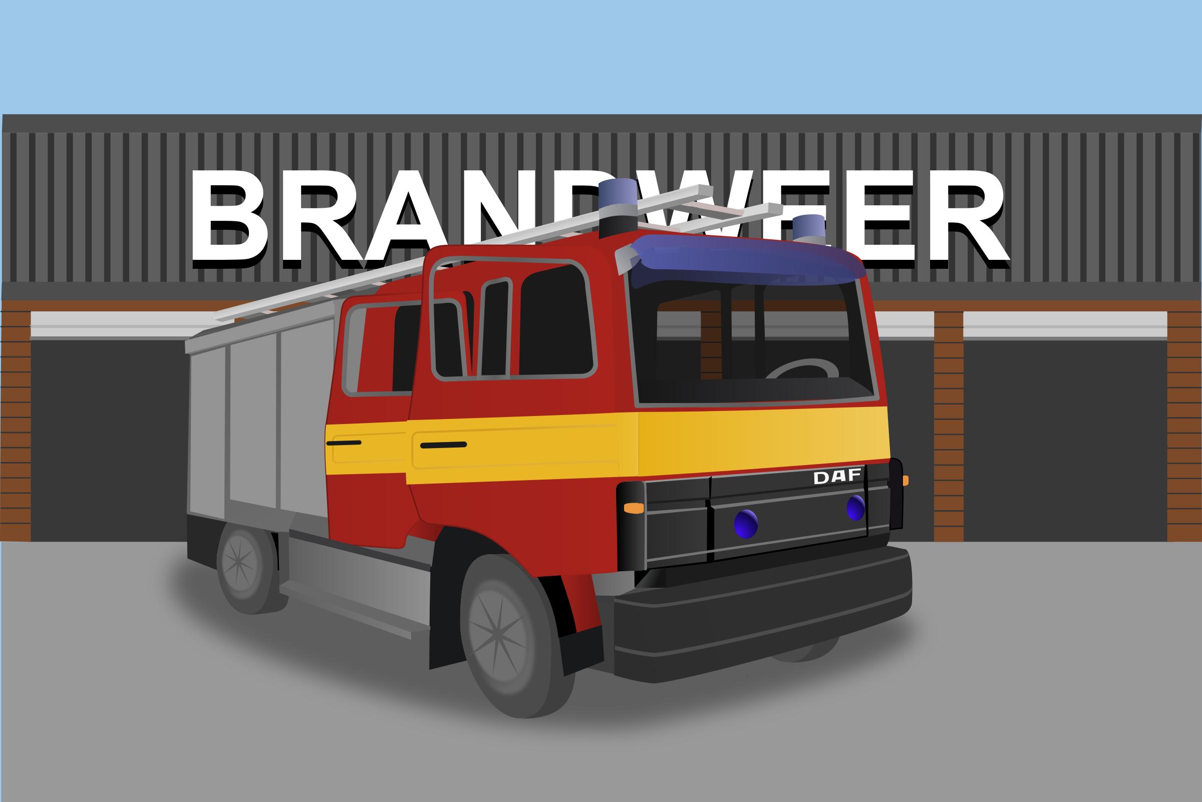 Fire Truck clipart house fire #8