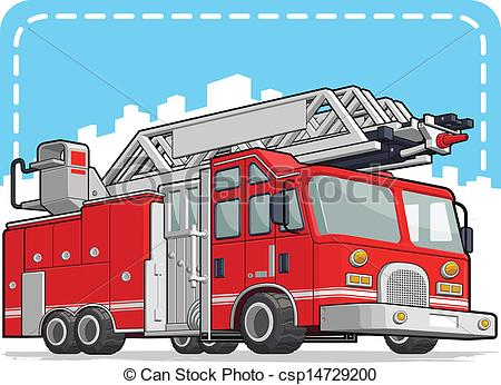Fire Truck clipart ladder A  Red Fire Fire