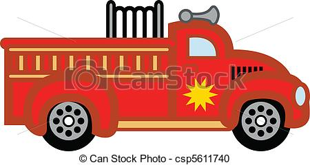 Fire Truck clipart logo Child's toy csp5611740 fire Vector