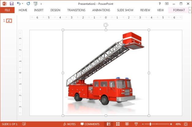 Fire Truck clipart powerpoint Animated truck Fire Emergency Templates