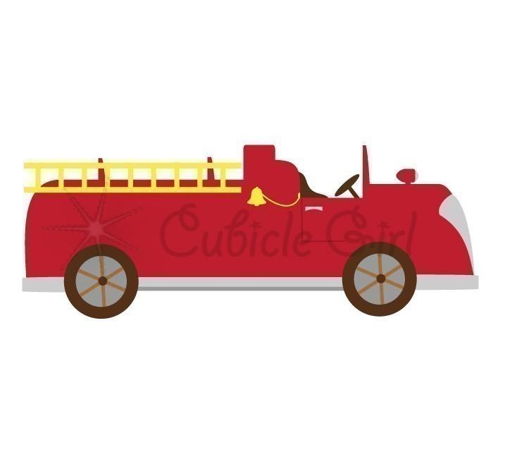 Fire Truck clipart powerpoint Clip Art Art art Vintage