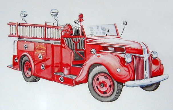 Fire Truck clipart powerpoint Clipart Free  Vintage Fire