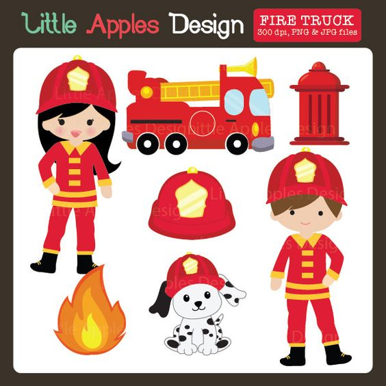 Fire Truck clipart printable #14