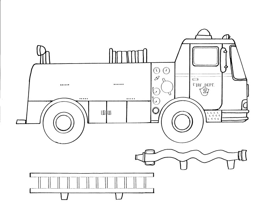 Fire Truck clipart printable #10