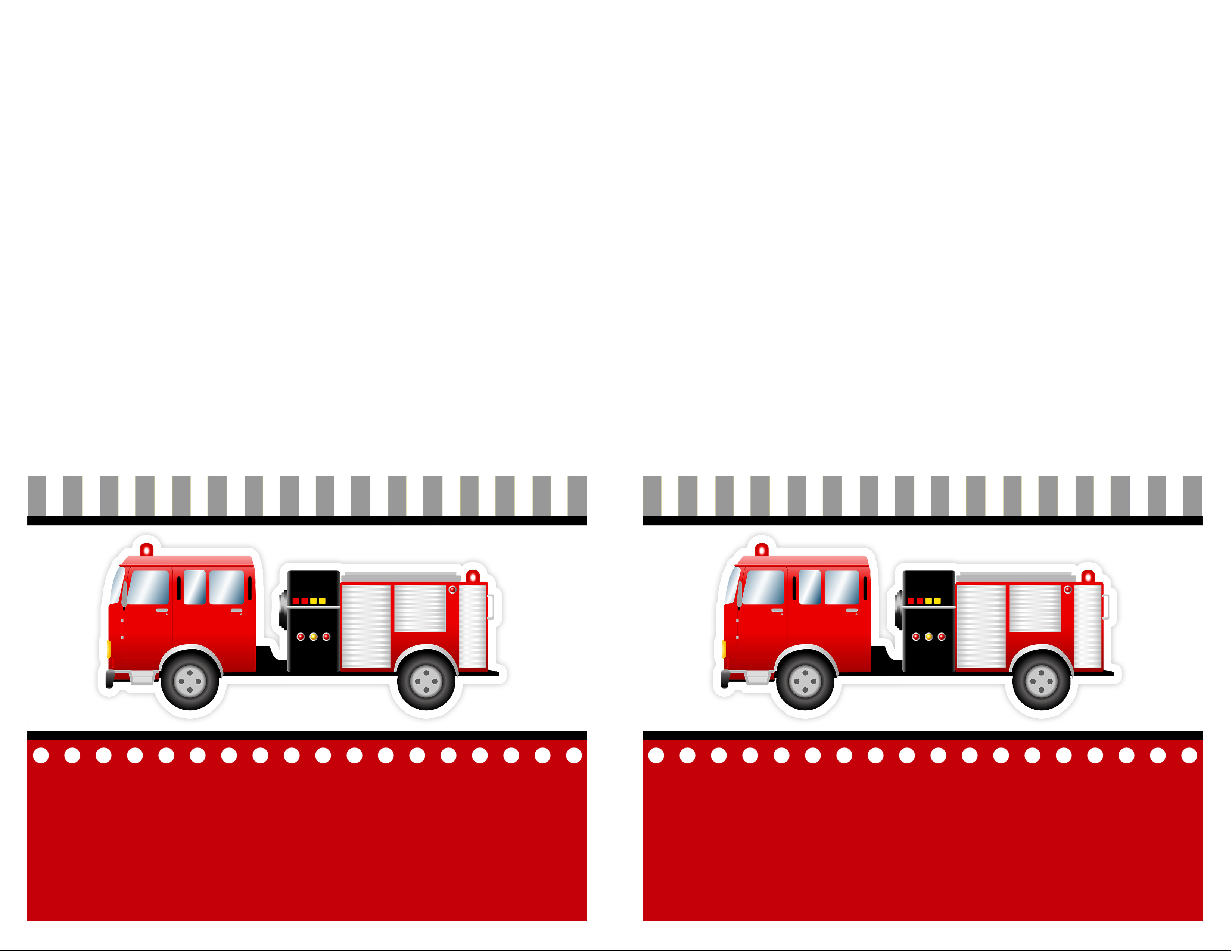 Fire Truck clipart printable #11