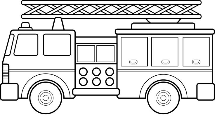 Fire Truck clipart printable Fire Color coloring truck 16
