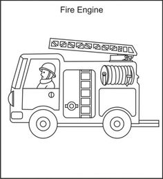 Fire Truck clipart printable #13