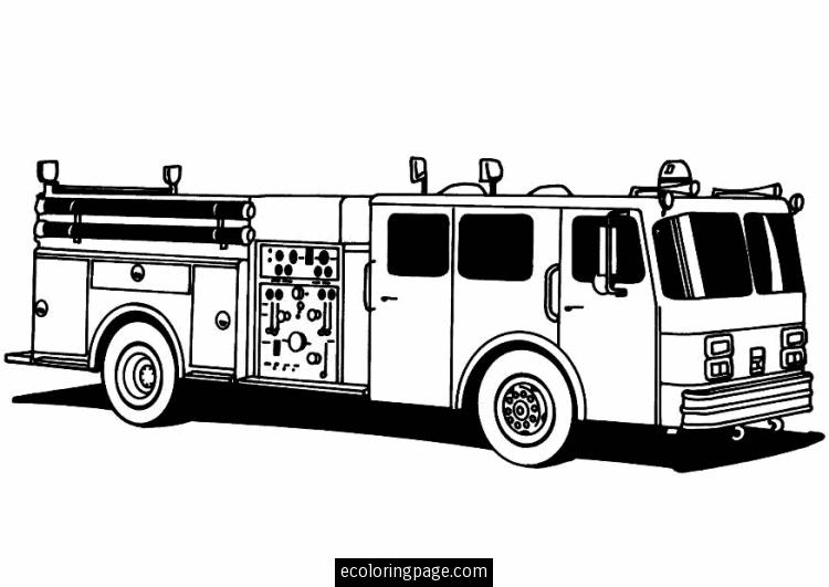 Fire Truck clipart printable #12