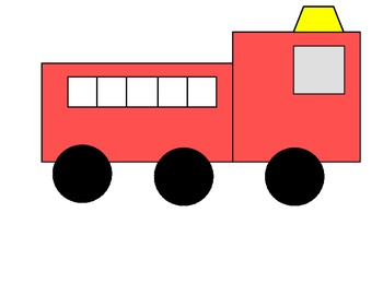 Fire Truck clipart simple Fire  Shape Simple Truck