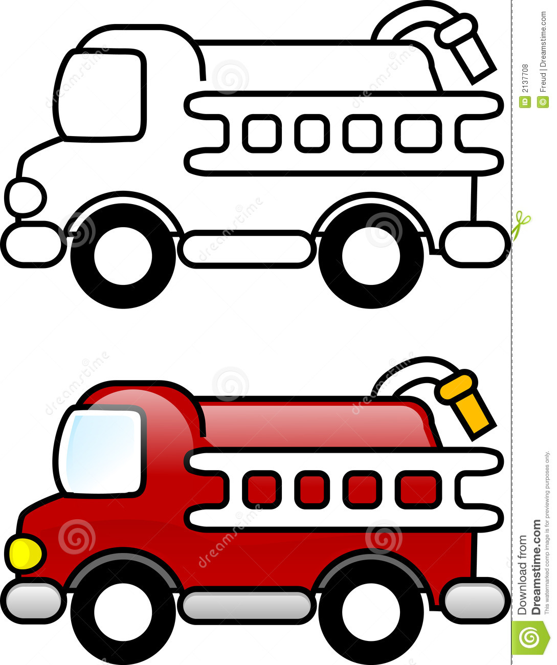 Fire Truck clipart simple #11
