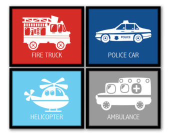 Fire Truck clipart taxi car Etsy Vehicle Art Vehicles Art