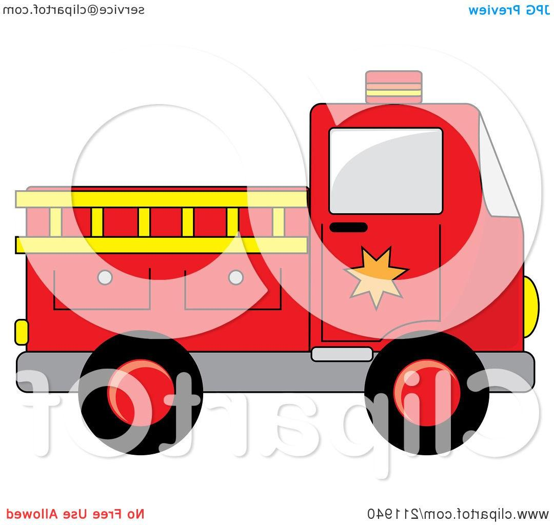 Fire Truck clipart yellow Red Royalty Of With