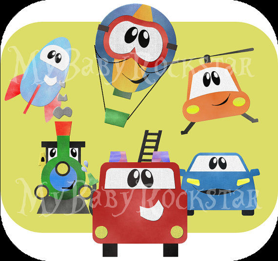 Fire Truck clipart yellow car Balloon rocket train Clip Cute