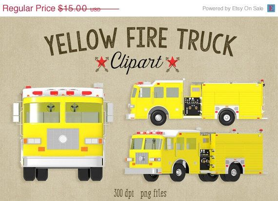 Fire Truck clipart yellow car Images Clipart SALE Pinterest OFF