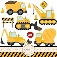 Fire Truck clipart yellow car Cars Crafting Clipart  Construction