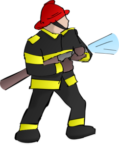 Office clipart firefighter  Fire online art Clker